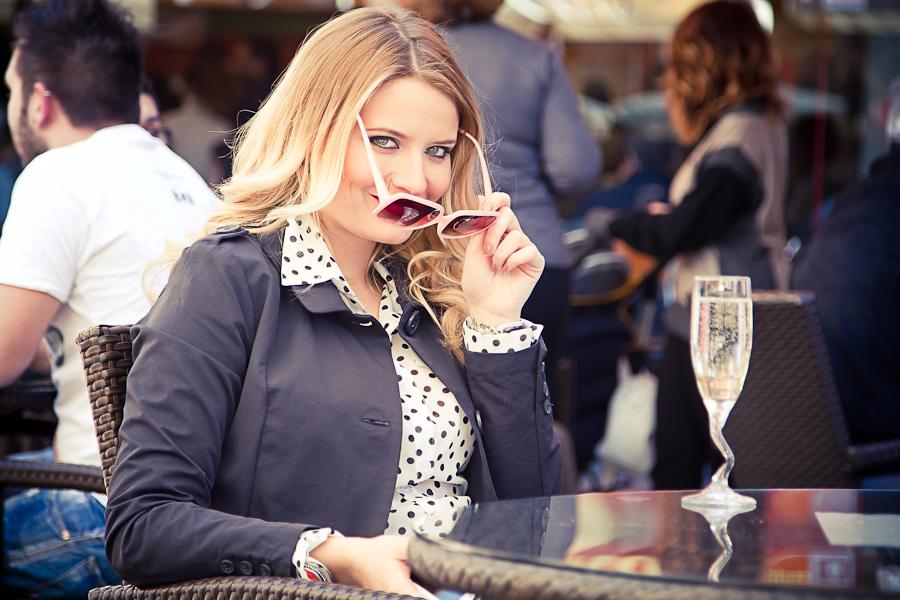 aperitivo con Isabella Rossellini: shoting moda del fotografo marco pieraccini per il fashion report al valdichiana outlet village